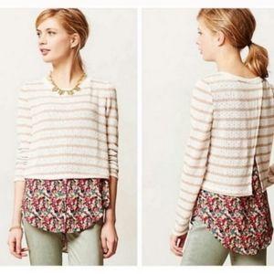 💘 Anthro Ginny Layered Sweater